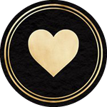 Icon of gold heart for body and facial waxing services